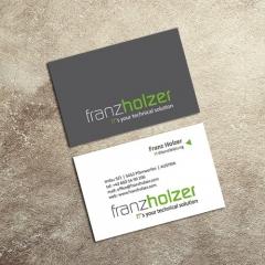 Franz Holzer IT - Referenz: Logo + Visitenkarten