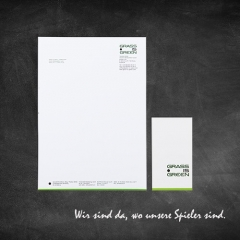 GRASS IS GREEN Sportsmanagement GmbH - Referenz Screendesign + Print
